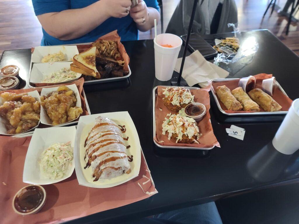 glutton.pork cakes.egg rolls